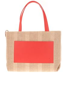 Loro Piana - Shopper bag in Natural and Sunrise color