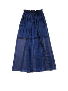 Dondup - Elastic at the waist skirt in blue