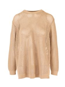 Loro Piana - Openwork sweater in Sunny Sand color