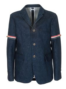Thom Browne - Giacca Classic Unconstructed blu