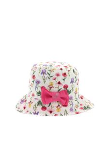 Monnalisa - Floral print hat in white
