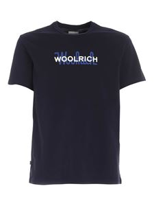 Woolrich - T-shirt with logo in blue