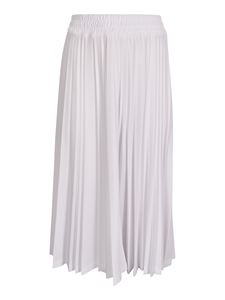 Zucca - Pleather skirt in white
