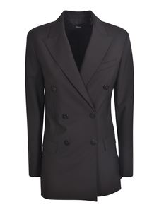 Theory - Double-breasted jacket in black