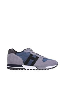 Hogan - H383 sneakers in grey and blue