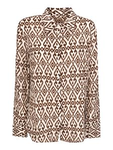 massimo alba - Mias printed shirt in Mocha color