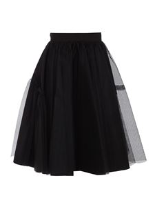Alexander McQueen - Tulle and fabric skirt in black