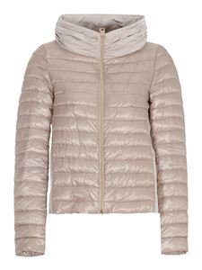 Herno - Asymmetric down jacket in pink