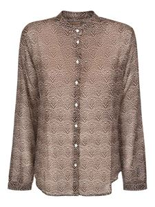 massimo alba - Silk blend shirt in Mocha color