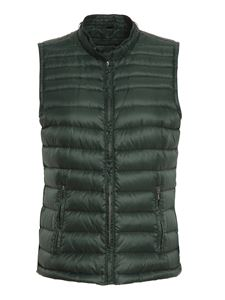 Peuterey - Quilted waistcoat in green