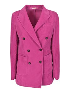 massimo alba - Carlotta velvet jacket in Magenta color