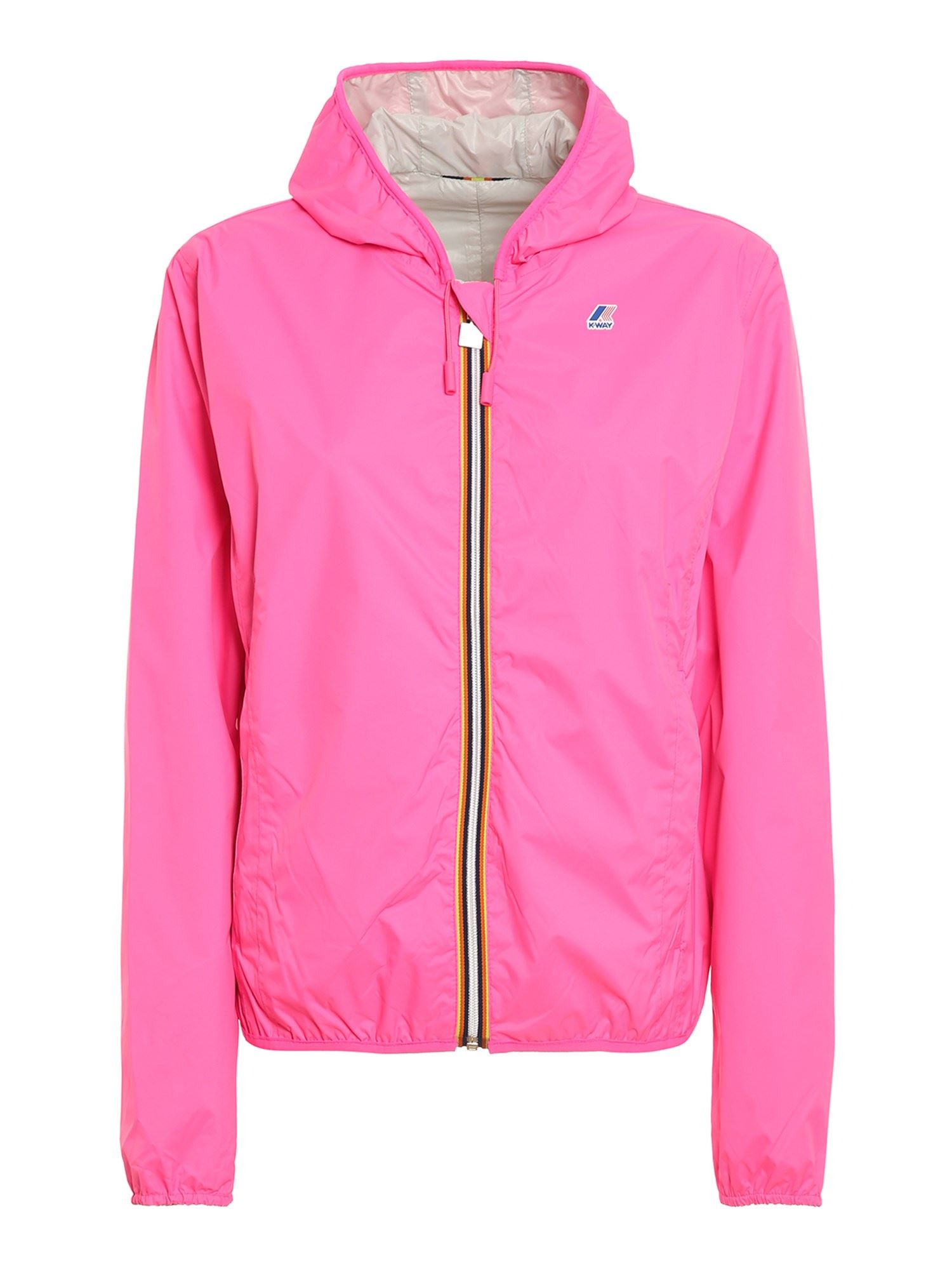 K-Way LILY PLUS DOUBLE FLUO JACKET IN PINK