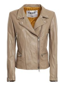 S.W.O.R.D. - Leather jacket in grey