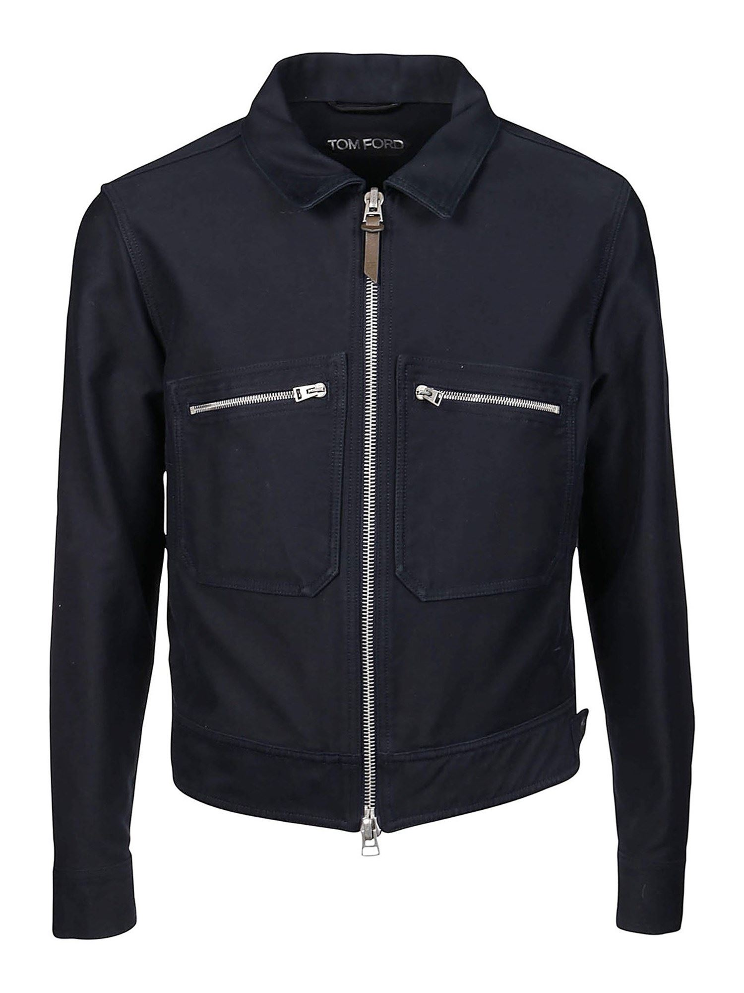 Tom Ford Cottons COTTON JACKET IN BLUE