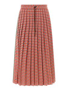 Gucci - Pleated midi skirt in red