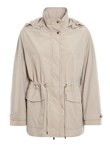 Moorer - Tech fabric jacket in beige
