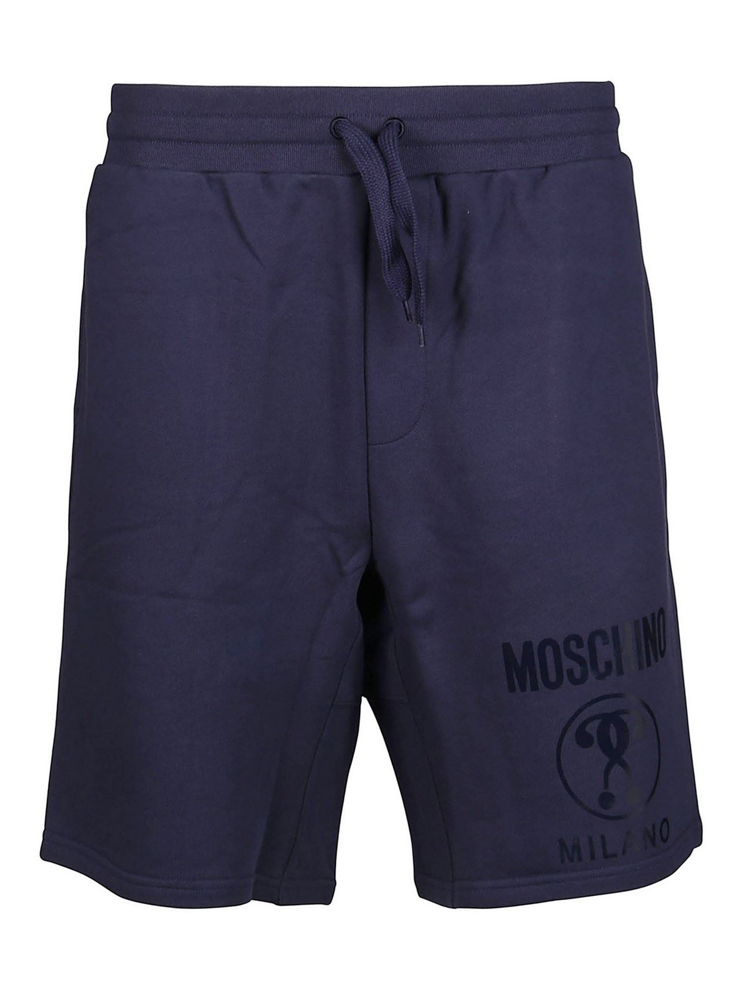 Moschino DOUBLE QUESTION MARK SHORTS IN BLUE
