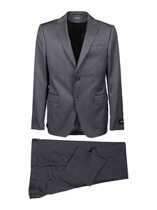 Z Zegna - Brushed mélange grey wool suit