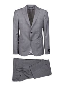 Z Zegna - Checked wool suit in grey