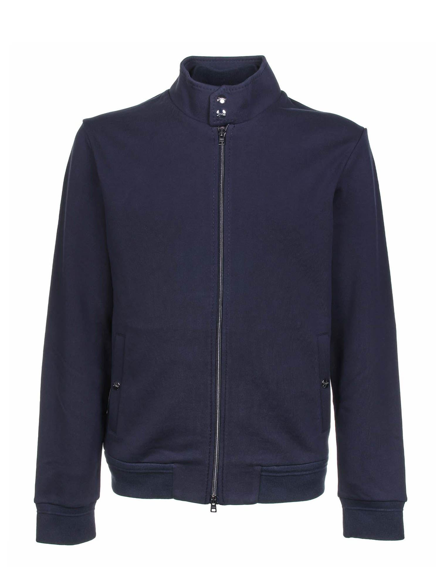 Herno ZIPPED CARDIGAN IN BLUE