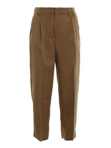 PT Torino - Lyocell pants in brown