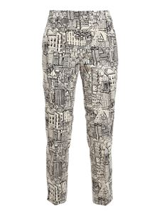 PT Torino - New York trousers in white and black