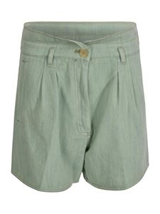 Forte Forte - Cavalry denim shorts in Mint color