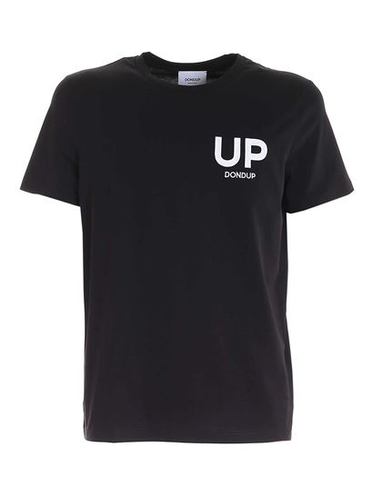 Dondup - Logo embroidery T-shirt in black