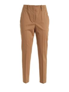 SLOWEAR Incotex - Dinora pants in camel color