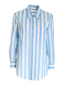 Glanshirt - Striped shirt in light blue and white