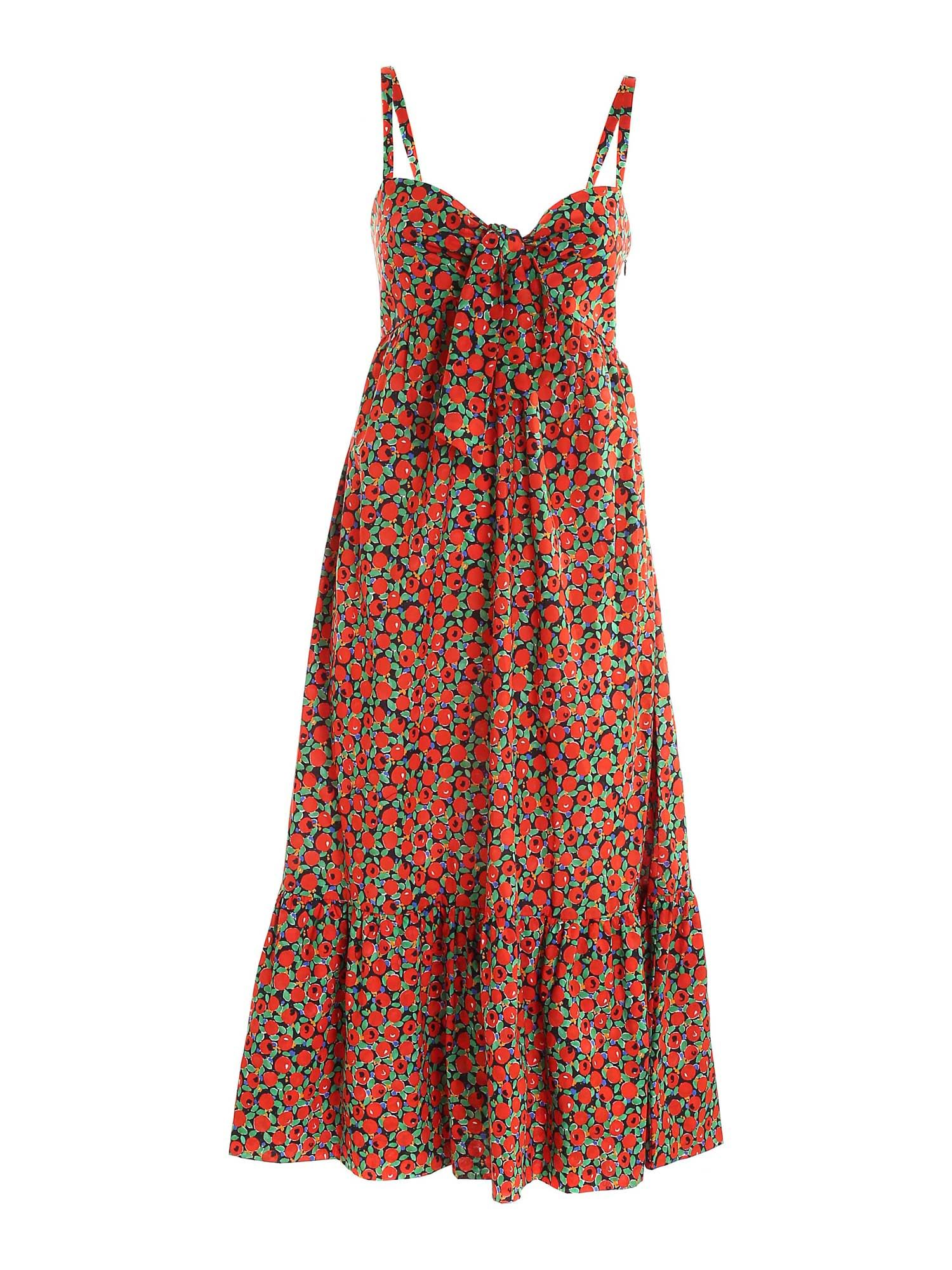 L'autre Chose Cottons BOW DRESS IN RED