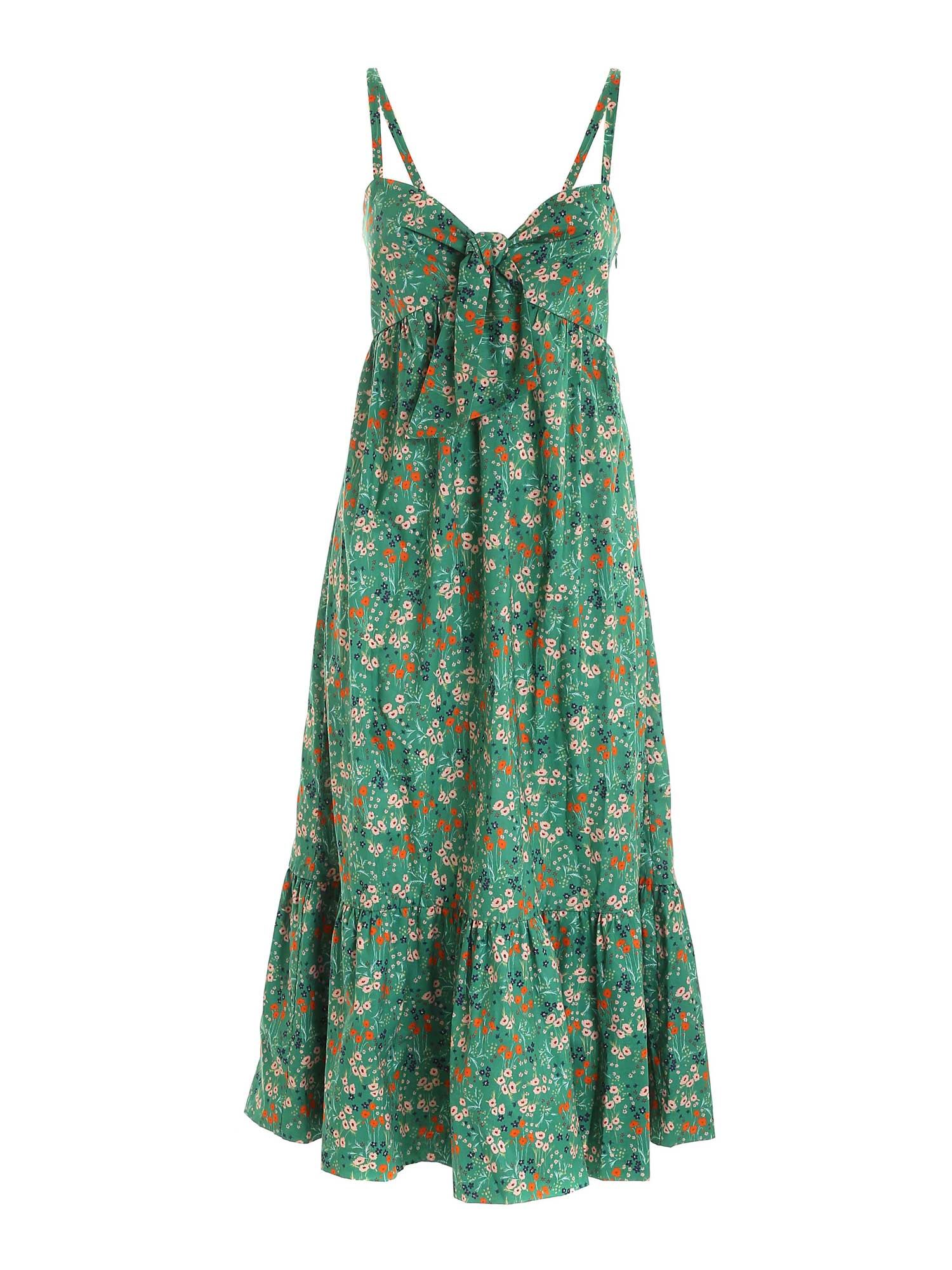 L'autre Chose Cottons BOW DRESS IN GREEN