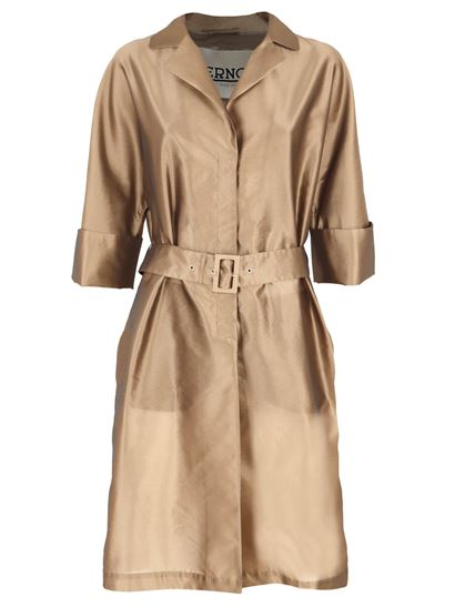 Herno - Belted trench coat in bronze color