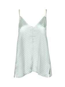 Forte Forte - Houndstooth top in light blue and white