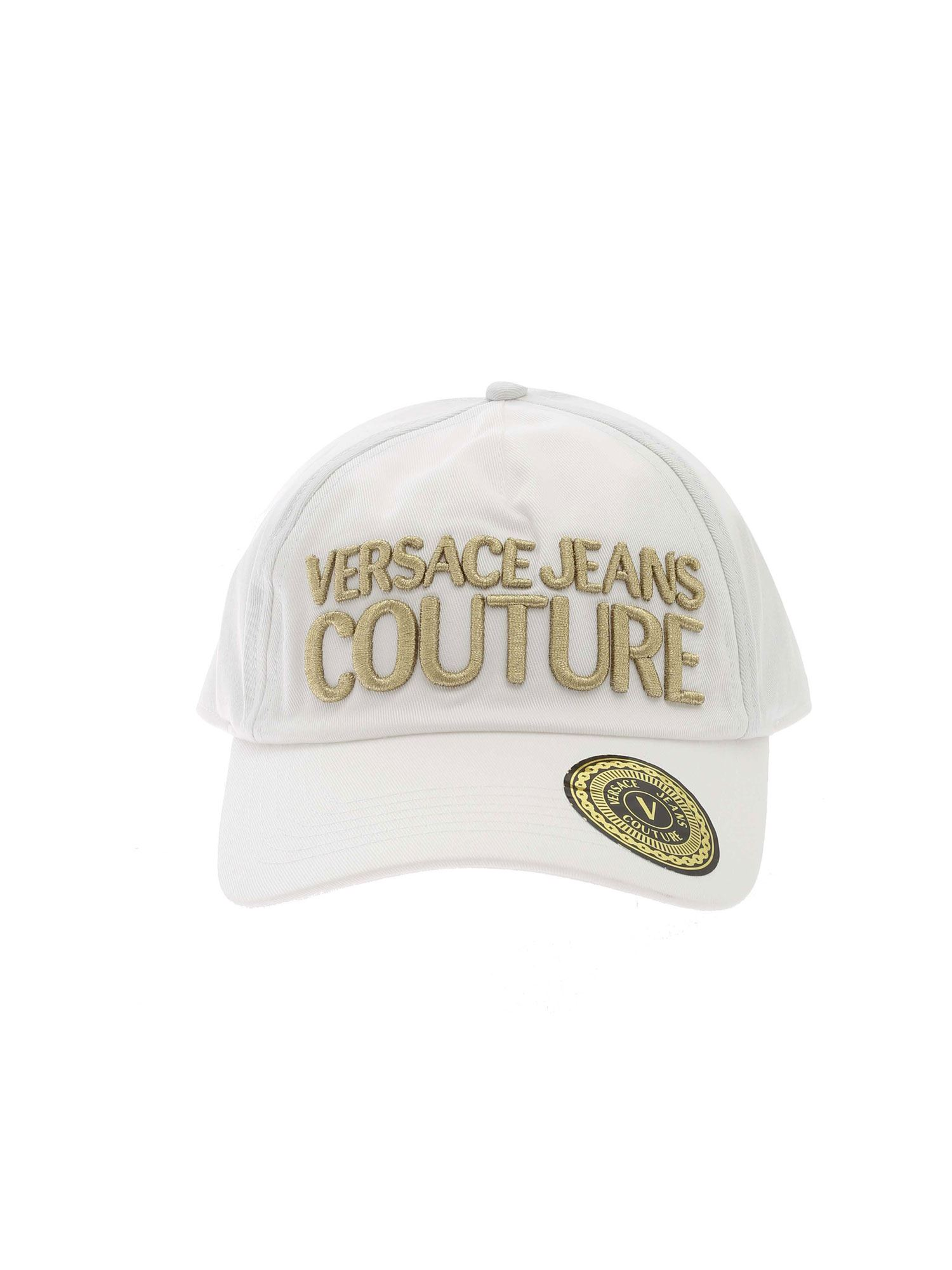 Versace Jeans Couture Caps BASEBALL CAP IN WHITE