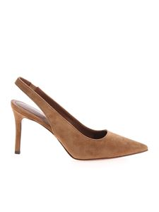 L'Autre Chose - Suede slingback in brown