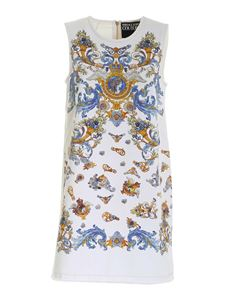 Versace Jeans Couture - Cameo print dress in white