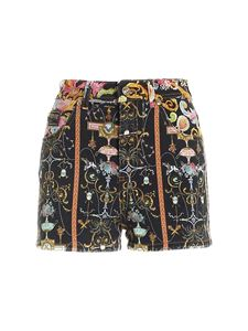 Versace Jeans Couture - Contrasting print shorts in black