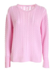 malo - Cable knit cashmere sweater in pink