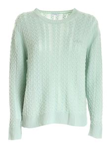 malo - Cable knit cashmere sweater in green