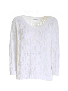 malo - Drilled sweater in white