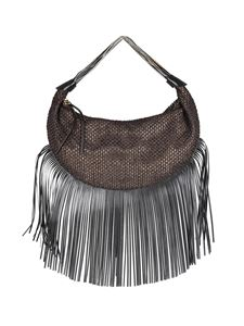 Borbonese - Tangerine Large fringed bag in brown