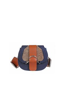 Borbonese - Small 110 bag in brown and blue