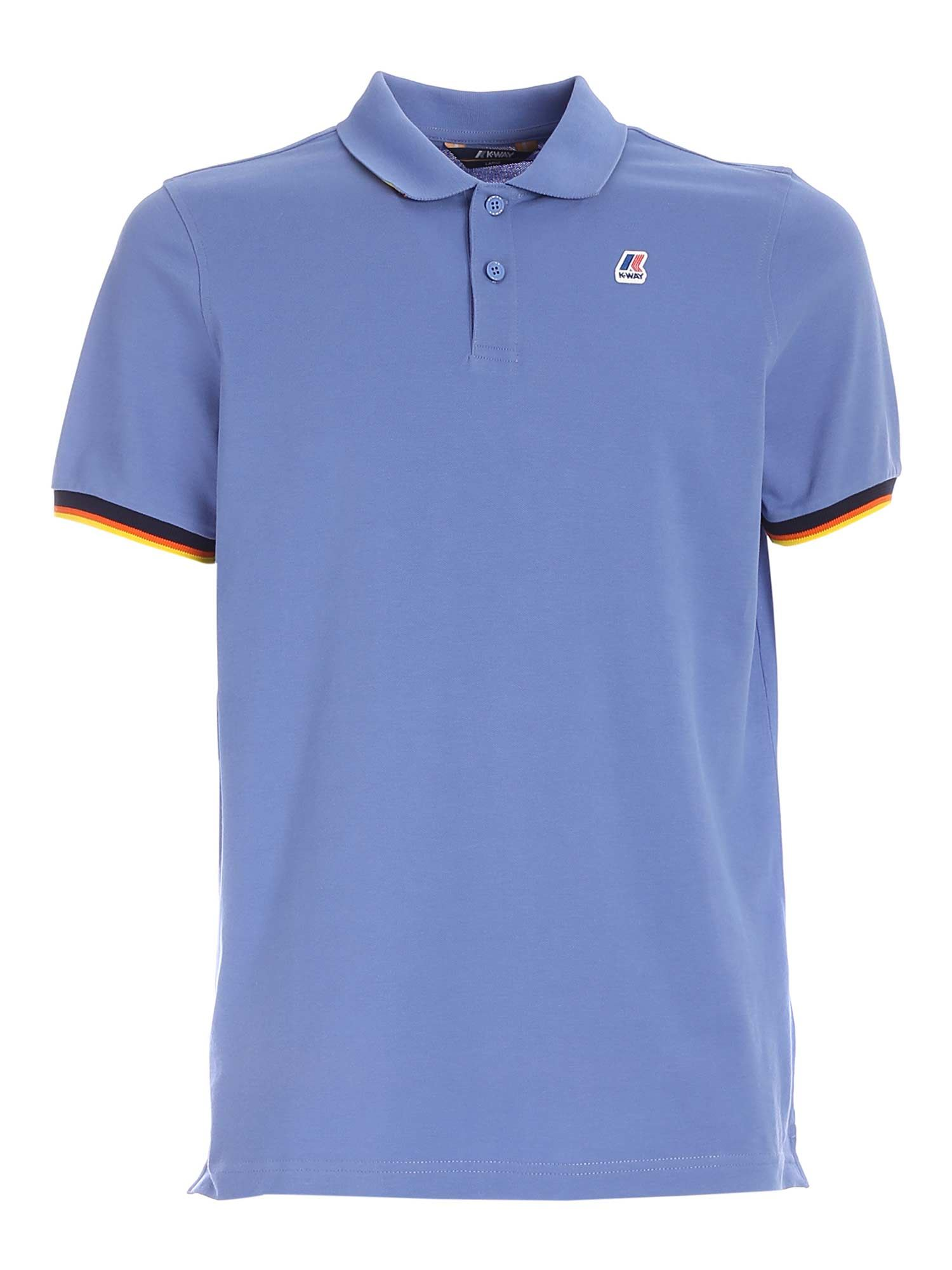 K-Way VINCENT POLO SHIRT IN LIGHT BLUE