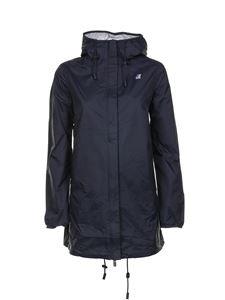 K-way - Sophie Plus Double jacket in blue and grey