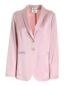 Semicouture - Jade single-breasted jacket in pink