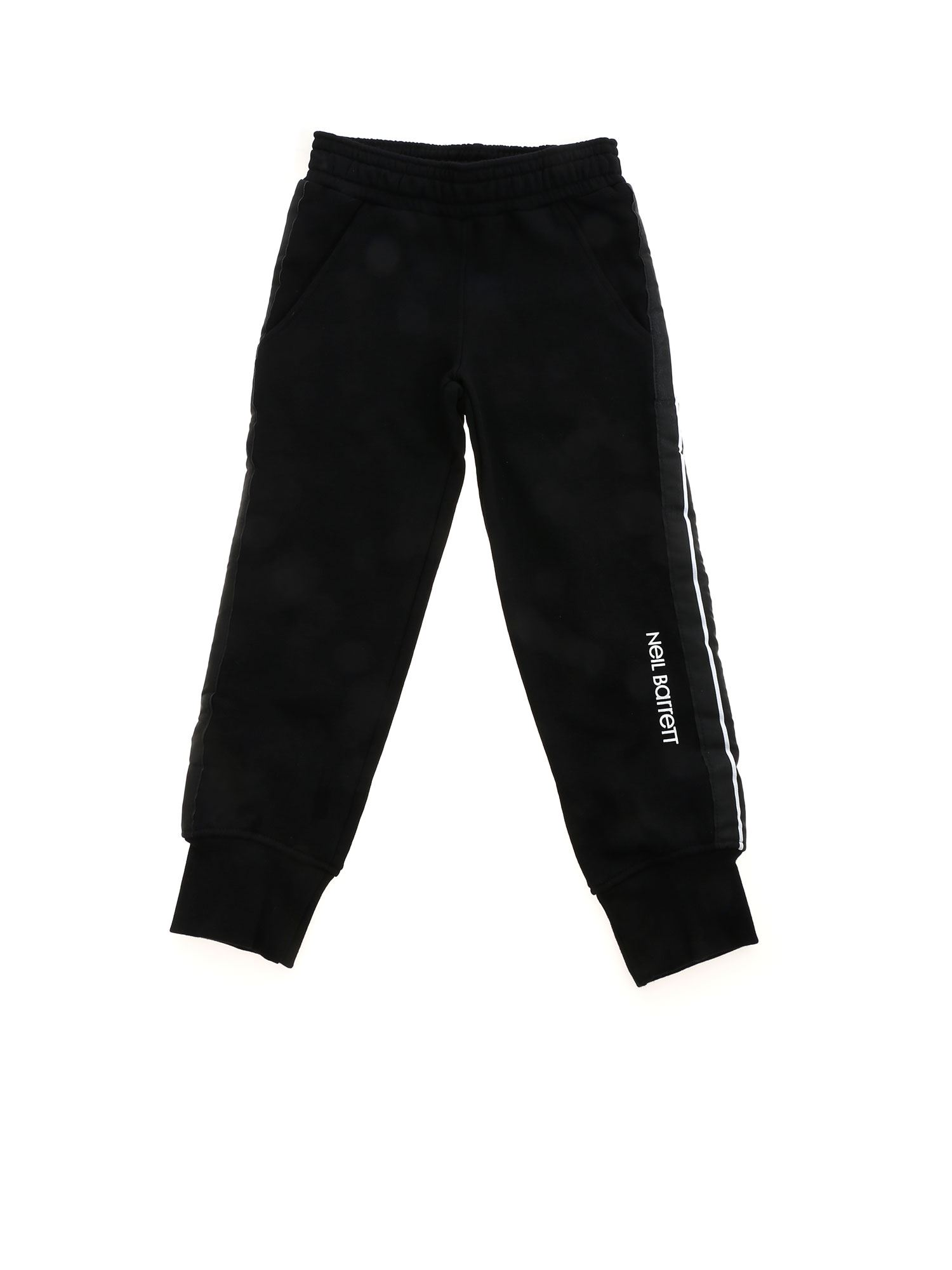 Neil Barrett STRIPED BAND PANTS IN BLACK