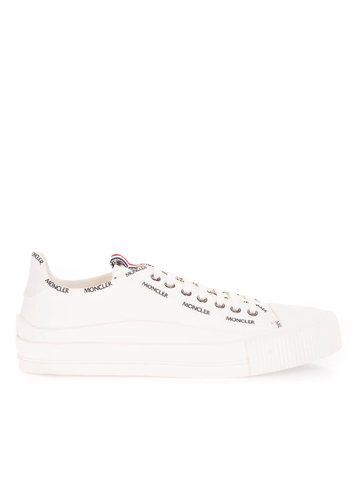 Moncler Canvases LOGO SNEAKERS IN WHITE