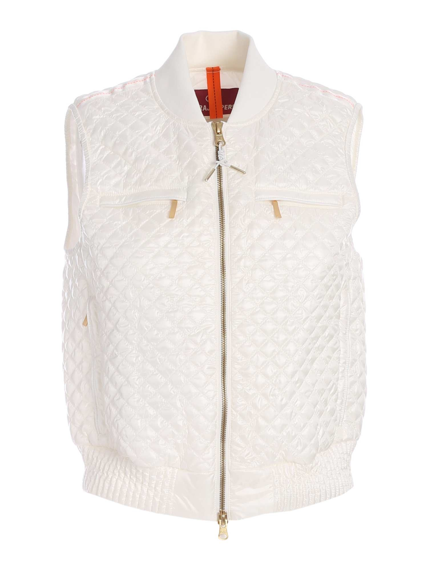 Parajumpers MINA PADDED WAISTCOAT IN WHITE