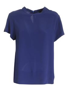 Seventy - Loose fit crepe blouse in blue